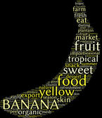 Banana tag cloud — Stock Photo