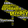 Stock Photo: Security camershaped tag cloud