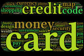 Word cloud credit card shaped — Stock Photo