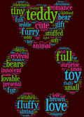 Teddy bear tag cloud — Stock Photo