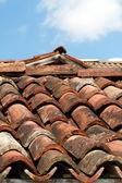 Arka plan eski çatı kiremitleri — Stok fotoğraf