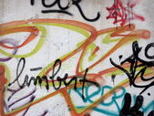 Texture of concrete wall with graffiti — Stock Photo