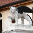The Lion of San Marco in Marostica Italy - Stock Photo