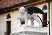 The Lion of San Marco in Marostica Italy — Stock Photo