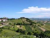 Aerial panorama in Abruzzo, Italy — Stock Photo