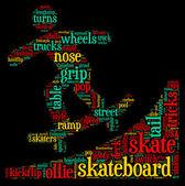 Skateboarder tag cloud illustration — Stock Photo