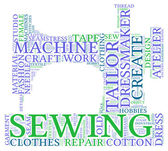 Sewing machine tag cloud illustration — Stock Photo