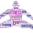 Fitness tag cloud illustration — Stock fotografie