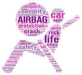 Illustrazione di Air bag pittogramma tag cloud — Foto Stock