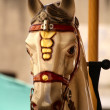 Carousel, Vintage horses on a carnival Merry Go Round — Stock Photo
