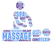 Spa massage pictogram tag cloud illustration — Stock Photo