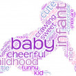 Stock Photo: Crawling baby tag cloud illustration
