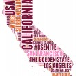 California USA state map vector tag cloud illustration — Stock Vector #38621711