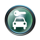 Rental car pictogram 3d icon button — Stock Photo