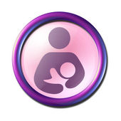 Maternity pictogram 3d glossy icon button — Stock Photo