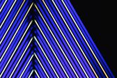 Blue neon lights absract background — Stock Photo