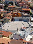The city Castelsardo from the castle, Sardinia, Italy — Stock Photo