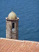 Sant antonio abate Kilisenin çan kulesi castelsardo, Sardunya, İtalya — Stok fotoğraf