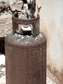 Rusty gas tank — Stock Photo
