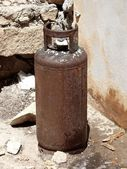 Rusty gas tank — Stock Photo