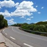 Road through a mediterranean landscape — Stock Photo #50167193