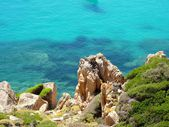 Rocks and sea in La Maddalena archipelago, Spargi island, Sardinia — Stock Photo