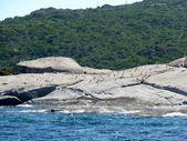 The Isuledda, also called Isola dei Gabbiani, is an almost-island in northern Sardinia, Italy, — Stock Photo