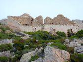Destroyed stone buildings, Caprera island, archipelago of La Maddalena, Sardinia, Italy — Stock Photo