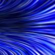 Abstract Blue 3D Tunnel Background — Stock Photo