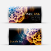 Modern Abstract Business-Card Set — Stock Vector