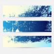 Blue Themed Grunge Banner Set — Stock Vector #24419127