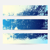 Blue Themed Grunge Banner Set — Stock Vector