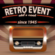 Royalty-Free Stock Vector Image: Retro Party Flyer with Vintage Radio