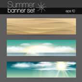Summer Banner set — Stock Vector