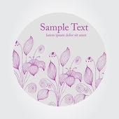 Elegant floral background — Stock Vector
