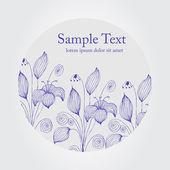 Elegante fondo floral — Vector de stock