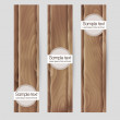 Wood vector banner set — Stock Vector