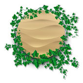 Ivy leaf decorated sand banner — Stock Vector