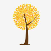 Abstract autumn tree — Vector de stock