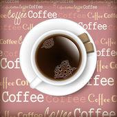 Káva interiéry ilustrace — Stock vektor
