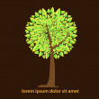 Abstract autumn tree — Vector de stock #36785829