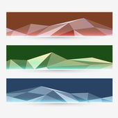 Abstract vector header set — Stock Vector