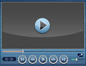 Vector video player design — Stock Vector