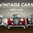 Stock Vector: Vector set of old's cool vintage cars