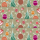 Hand drawn Christmas globes background — Stock Vector