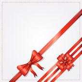 ギフト弓とリボンでエレガントなカード — ストックベクタ