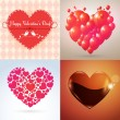 Vector Valentine hearts set — Stock Vector