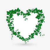 Vector Ivy branch heart illustration — Stock Vector
