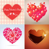 Vector Valentine hearts set — Stock Vector