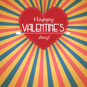 Retro valentines day background — Vettoriale Stock